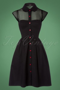 50s Heart Dress in Black and Red