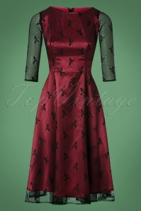 Dolly en Dotty Red Lace Dress 102 27 22978 13122017 006W