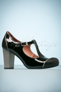 60s Leather Mary Jane Pumps in Black