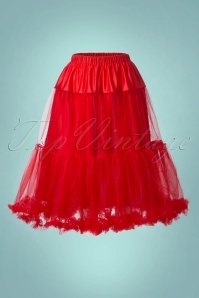 50s Polly Petticoat in Striking Red