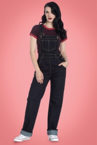 40s Elly May Dungarees in Denim