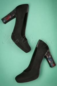 Tamaris Black Floral Heels 400 10 23425 20171219 0028w