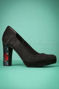 Tamaris Black Floral Heels 400 10 23425 20171219 0013w