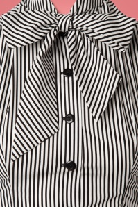 Heart of Haute Striped Bow Blouse 23069 20171219 0005W