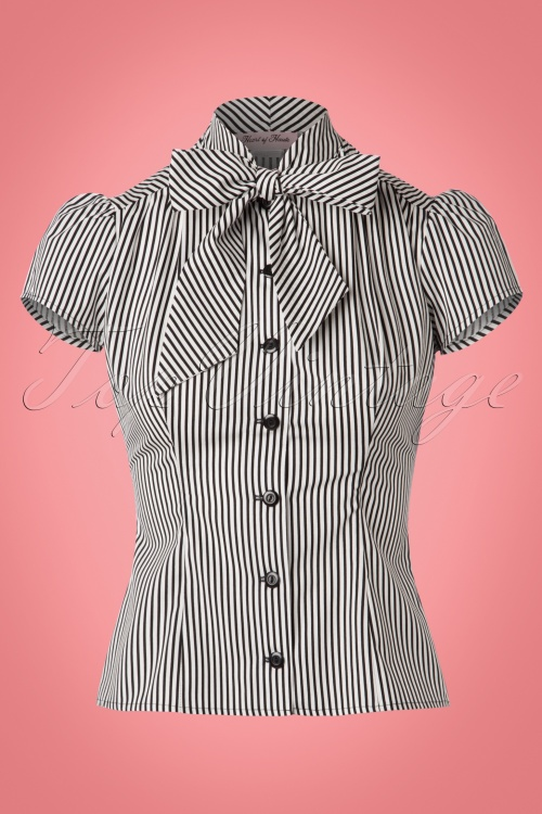 Heart of Haute Striped Bow Blouse 23069 20171219 0002W