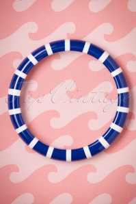 The Pink Bungaloo Blue and White Striped Bangle 310 39 23885 20171220 0002w
