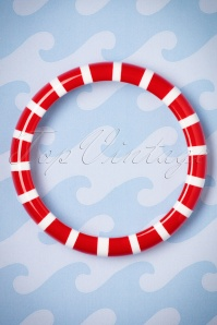The Pink Bungaloo Red and White Striped Bangle 310 27 23884 20171220 0001w