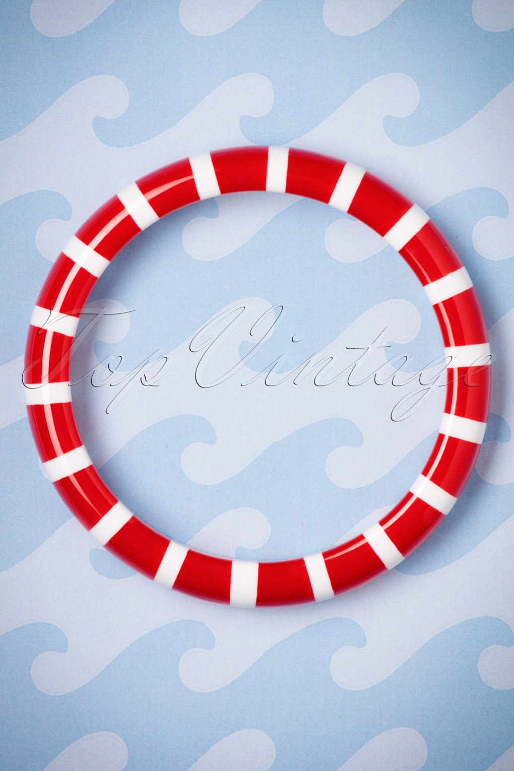 1930s Jewelry Styles and Trends TopVintage Exclusive  30s Madeline Striped Bangle in Red £11.47 AT vintagedancer.com