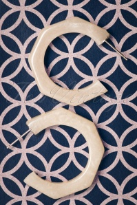 The Pink Bungaloo White Octogonal Earrings 333 50 23889 20171220 0010w