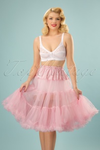 50s Retro Chiffon Petticoat in Dolly Pink