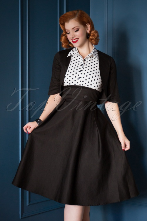 bb915b075f4f2 Dolly and Dotty Black and White Swing Dress 102 14 22959 20171128 0015WMVV3w