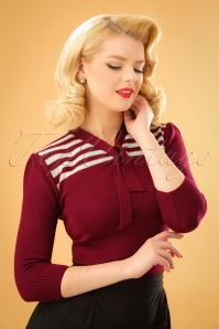 40s Darcey Jumper in Burgundy