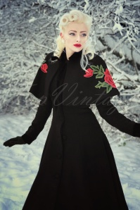Collectif Clothing Claudia Coat and Cape in Black 21766 20170614 0018 Anna Sellw