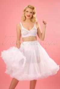Sammy 50s Retro White Chiffon Deluxe Petticoat 11077 4W
