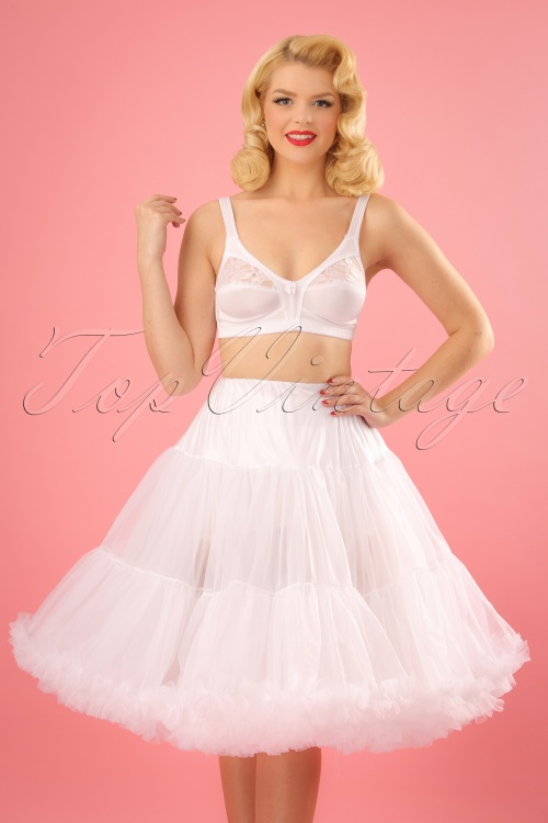 Sammy 50s Retro White Chiffon Deluxe Petticoat 11077 2W