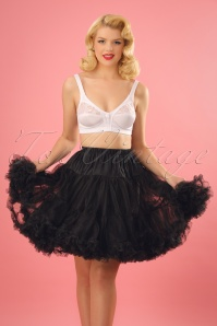 50s Retro Short Chiffon Petticoat in Black