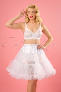 50s Retro Short Petticoat Chiffon in White