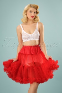 50s Retro Short Petticoat Chiffon in Red