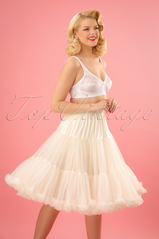 Crinoline Skirt | Crinoline Slips | Crinoline Petticoat UK 50s Petticoat in Ivory £44.59 AT vintagedancer.com