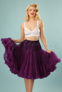 Banned Retro 50s Lola Lifeforms Petticoat in Aubergine