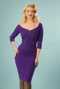 Vintage Chic Scuba Purple Pencil Dress 100 60 22742 20171127 0009W