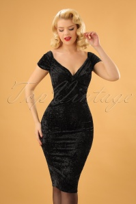 Vintage Chic Crushed Velvet Glitter Dress 100 10 24199 20171128 1W
