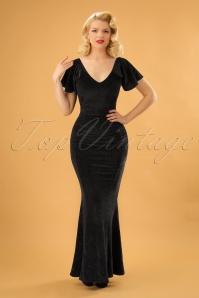 Vintage Chic Velvet Glitter Maxi Dress 108 10 23383 20171127 01W