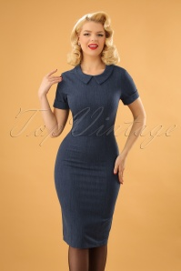 Venus van Chic Blue Denim Pencil Dress 100 30 23418 20171124 20W