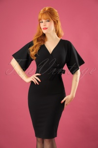 Vintage Chic Scuba Crepe Black Cross Bust Pencil Dress  100 10 22750 20171123 0005W