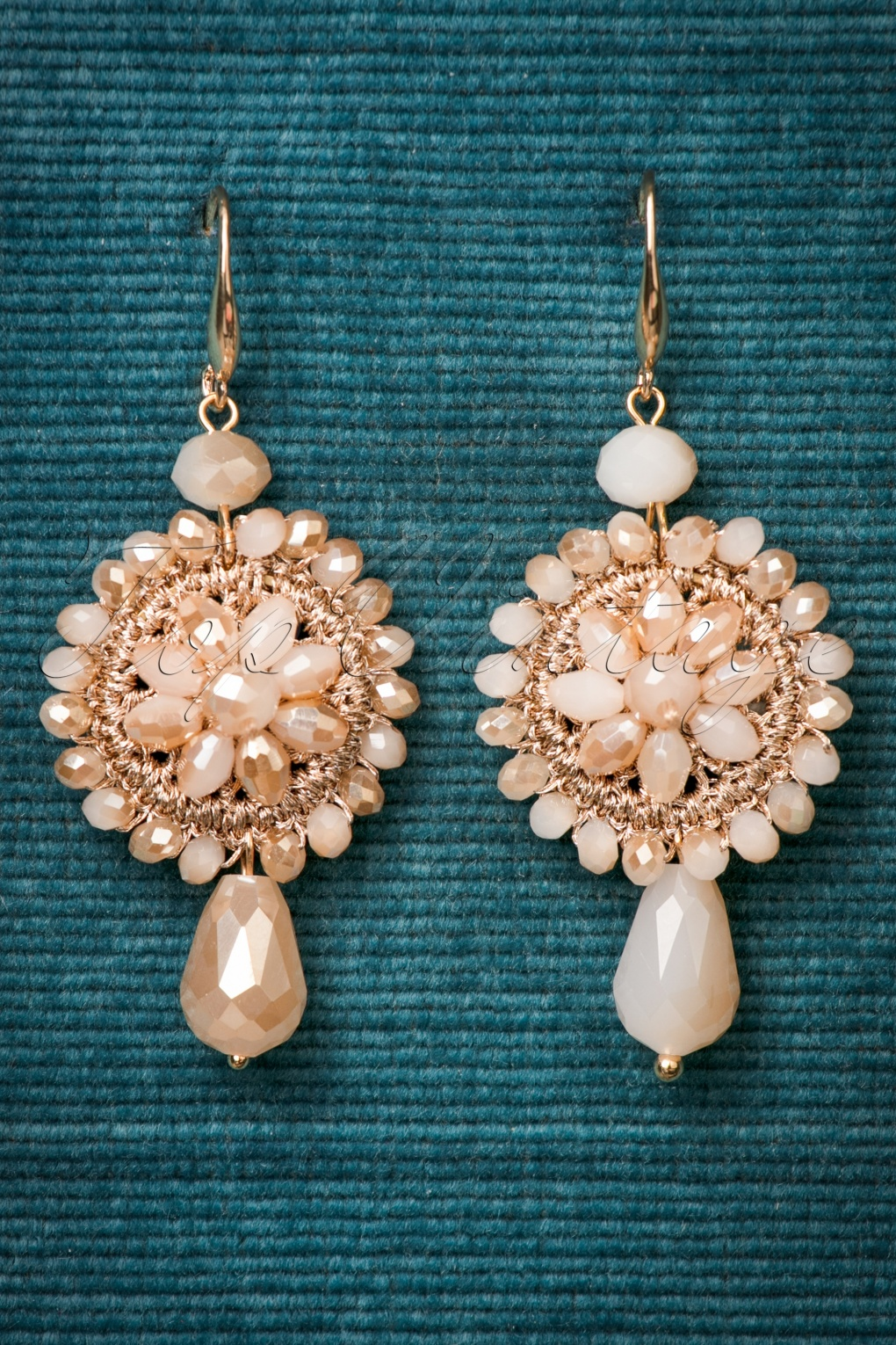 1930s Jewelry Styles and Trends 30s Nathalie Drop Earrings in Vintage Pink £13.30 AT vintagedancer.com