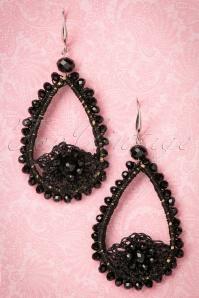 20s Amata Glam Earrings in Black
