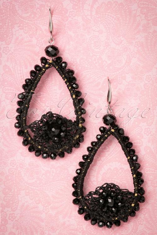 Celestine Black Long Earrings 333 10 24391 20171222 0003w