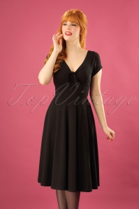 Unique Vintage Natalie Black Swing Dress 102 10 23166 20171201 1W