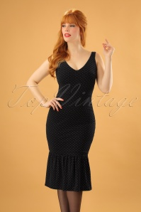 Vintage Chic Black and Gold Dress 100 39 23386 20171122 1W