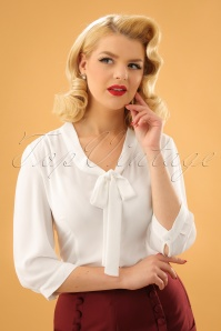 Dancing Days by Banned White Bow Blouse 112 50 23989 20171106 1W