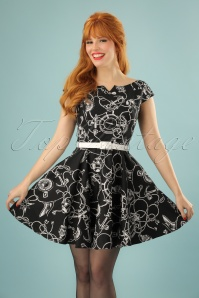 50s Mistral Mini Dress in Black