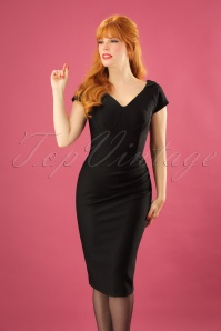 50s Seed Berkeley Pencil Dress in Black