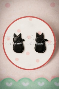Sweet Cherry Black Cat Earrings 330 10 24467 04012018 004W