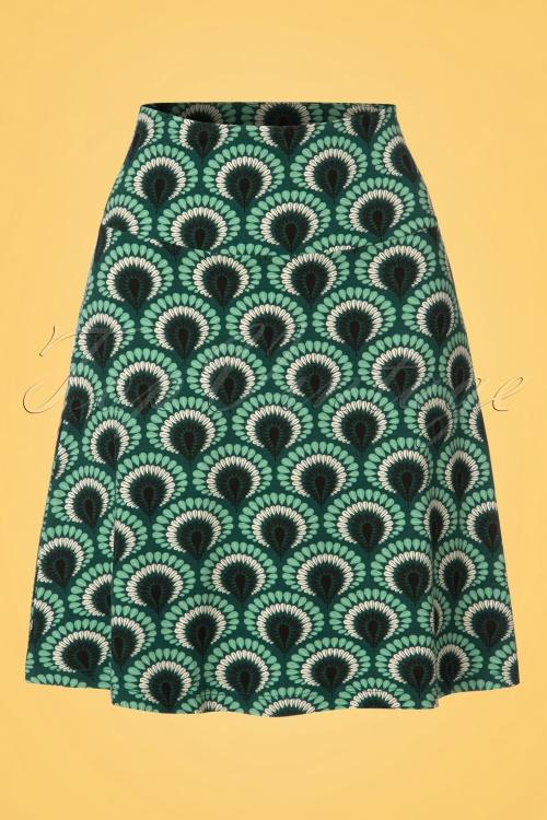 King Louie Border Skirt in Peacock Green 23101 20171221 0001W