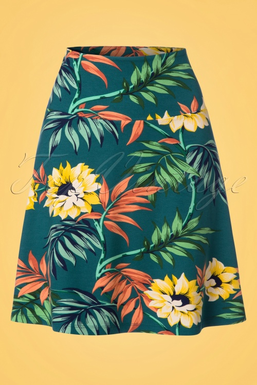 King Louie Border Skirt Marisol in Parade Blue 23089 20171221 0001W