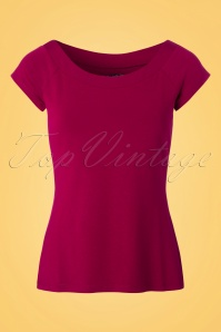 King Louie Sarah Top in Lipstick Pink 23116 20171220 0002W