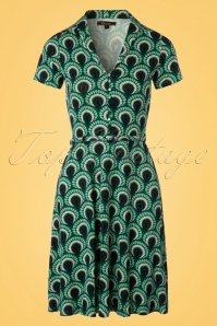 King Louie Emmy Dress Peacock in Rock Green 23102 20171221 0001W
