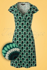 King Louie Gina Dress Peacock in Green 23099 20171221 0001W1