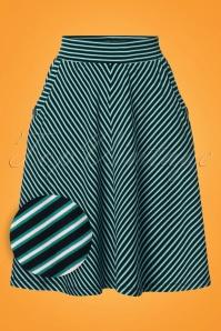 Sofia Slim Shady Skirt Années 60 en Vert Cascade