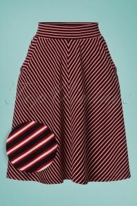 Sofia Slim Shady Skirt Années 60 en Rouge Rubis