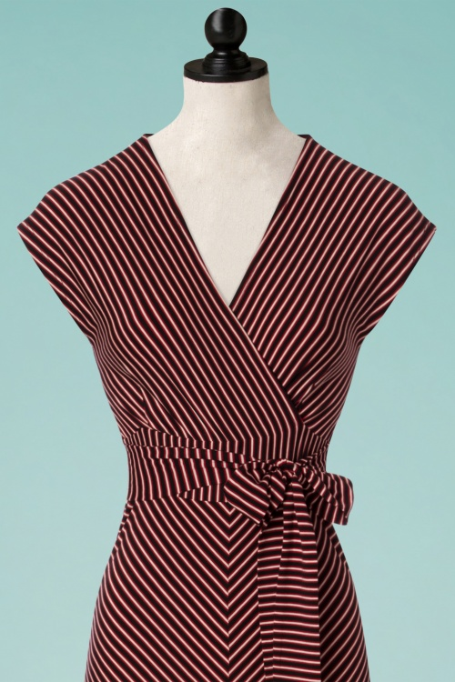 70s Lot Slim Shady Maxi Dress in Ruby Red