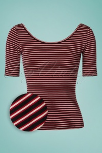 60s Ballerina Slim Shady Top in Ruby Red
