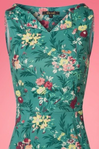 King Louie Audrey Floral Dress in Emerald 23125 20180105 0001c