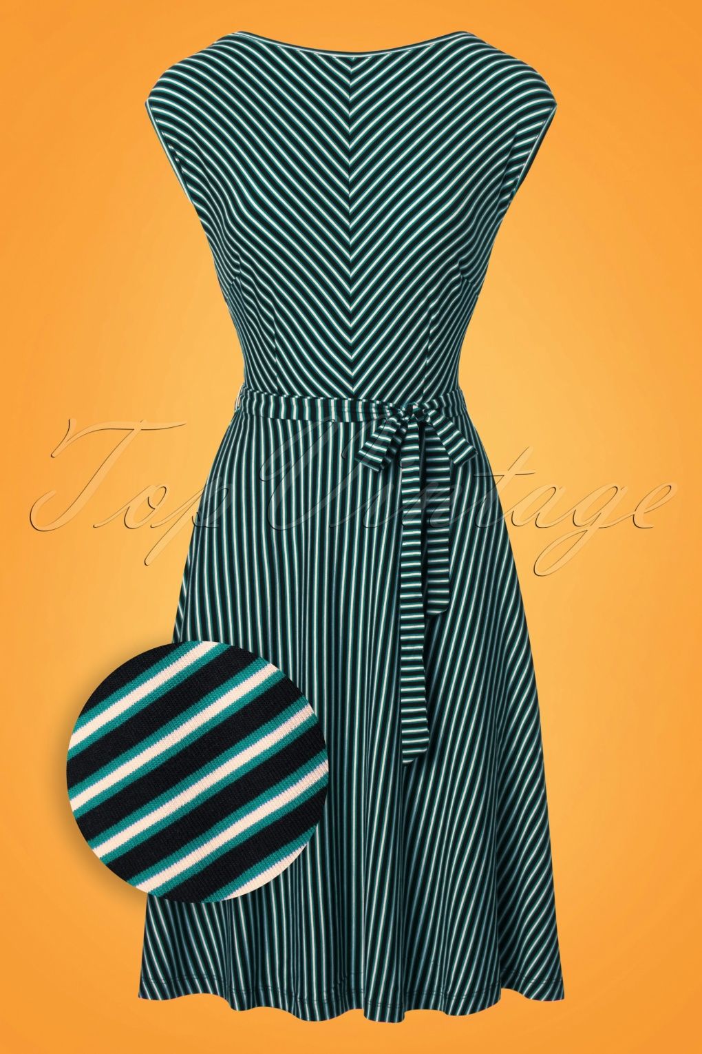 60s Plus Size Retro Dresses, Clothing, Costumes | 70s Dresses 70s Grace Slim Shady Swing Dress in Waterfall Green £70.56 AT vintagedancer.com