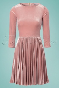 Closet London Sunray Pleated Velvet Dress in Blush 102 22 24453 20180109 0005w